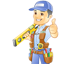 An image of a handyman giving the thumbs up sign